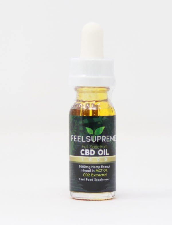 1000mg, Full Spectrum CBD oil infused in MCT Oilby Feel Supreme