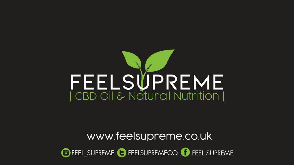 Feel Supreme logo, website and and social media details